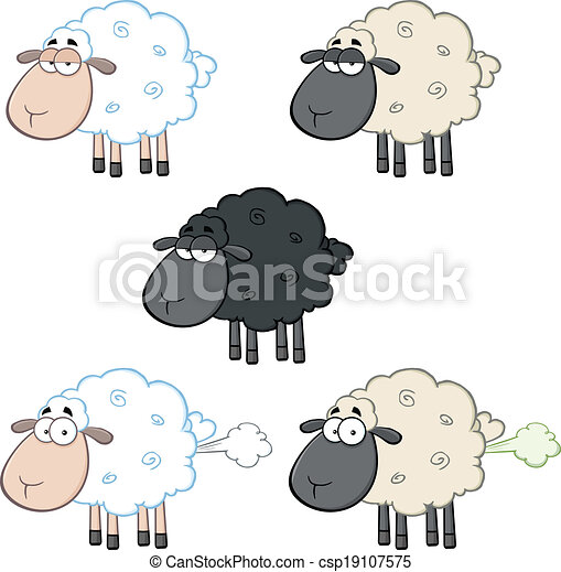 Sheep Characters 1. Collection Set - csp19107575