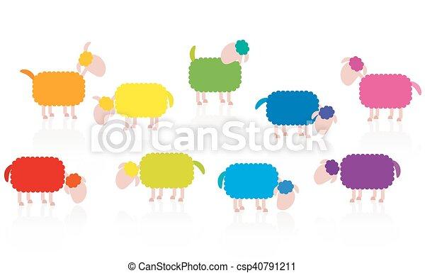 Dibujos de ovejas de color - csp40791211