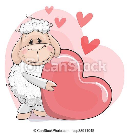 Ovejas de corazón - csp33911048
