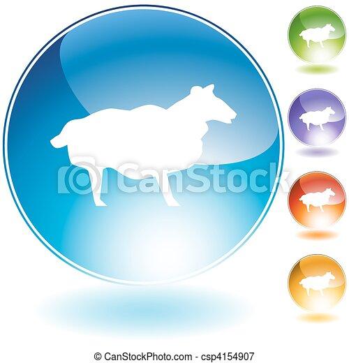 Sheep Crystal Icon Set - csp4154907