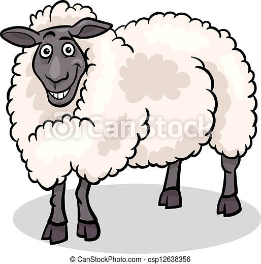 Sheep Farm Animal Cartoon Illustration Cartoon Illustration Of