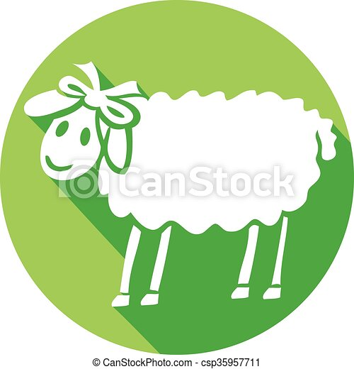 sheep flat icon - csp35957711