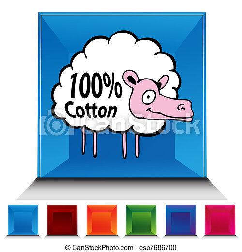 Sheep Gemstone Button Set - csp7686700