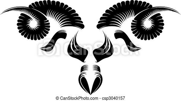 Black And White Sheep Head Pattern Design Vectors Illustration