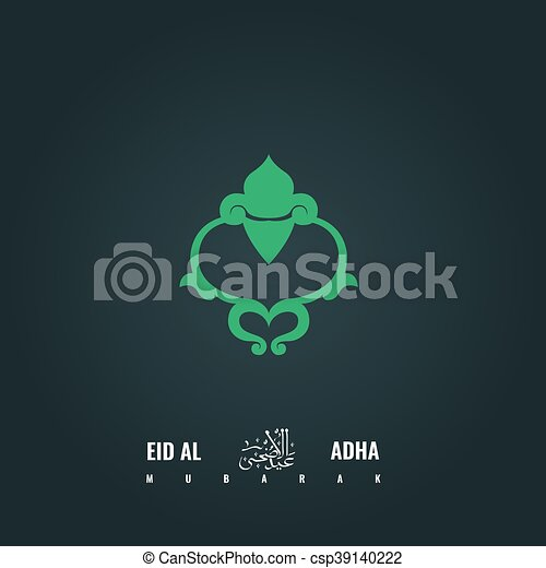 Sheep head symbol abstract eid al adha greeting card vector abstract eid al adha greeting card design csp39140222 m4hsunfo