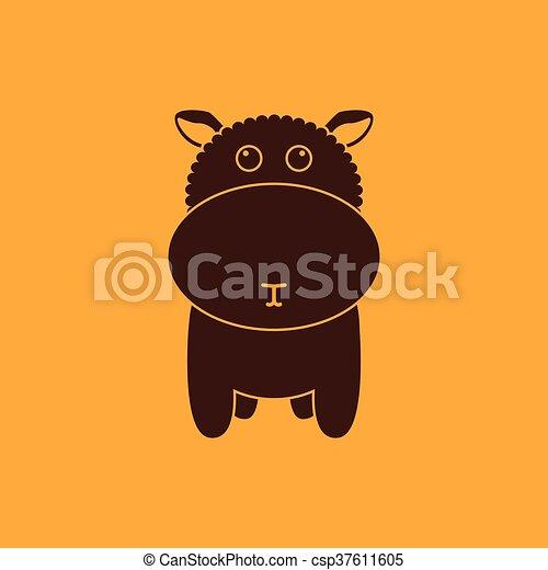 Linda silueta de oveja - csp37611605