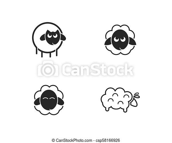 sheep logo vector icon - csp58166926