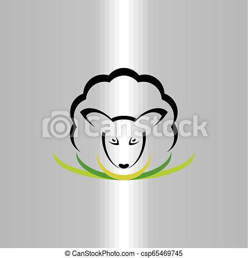 sheep logo vector icon symbol sign illustration - csp65469745