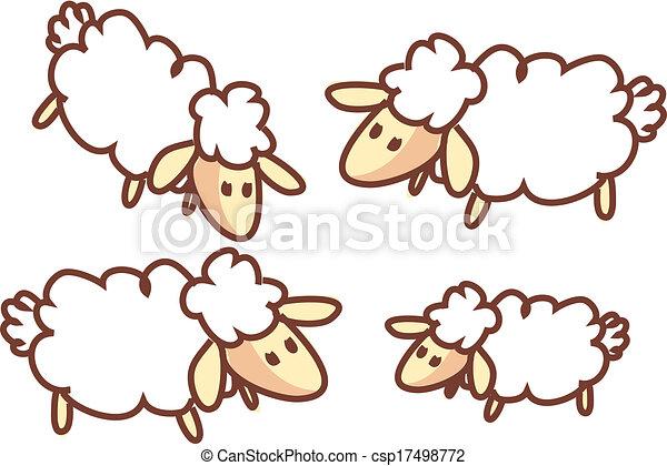 Un rebaño de ovejas - csp17498772