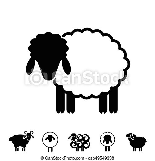 Sheep or ram icon, logo, template, pictogram. trendy simple lamb or ...