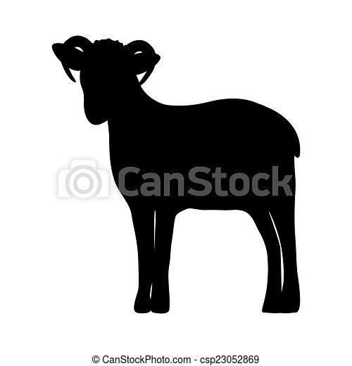sheep, silueta - csp23052869