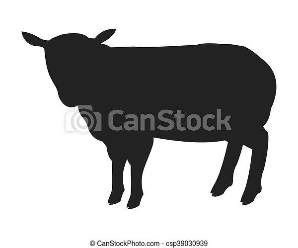 Silueta de ovejas - csp39030939