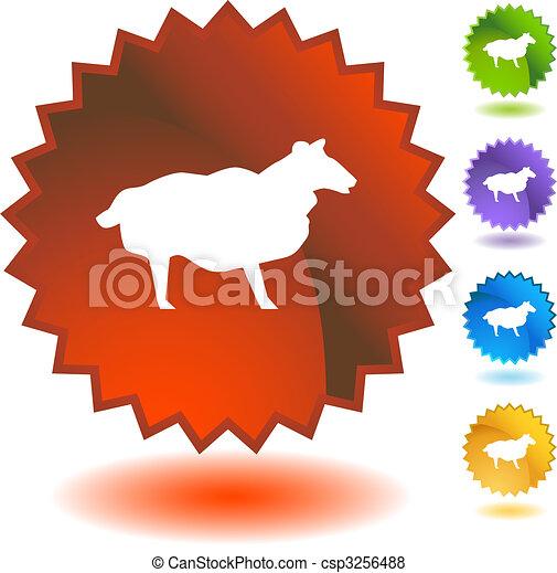 Sheep Starburst Icon Set - csp3256488