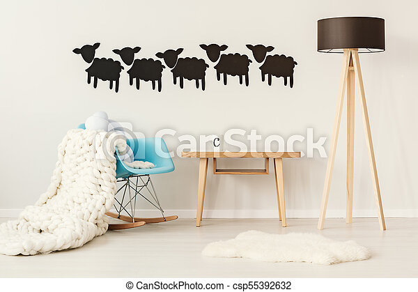 Sheep stickers in the interior - csp55392632
