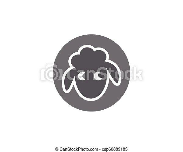 Sheep vector icon - csp60883185