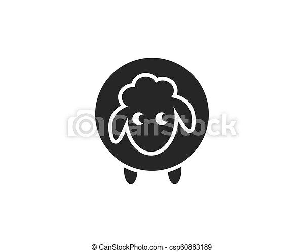 Sheep vector icon - csp60883189