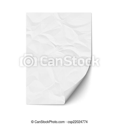 Sheet crumpled paper - csp22024774