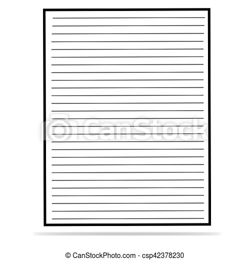 Sheet Of Lined Paper Vectors  Search Clip Art Illustration