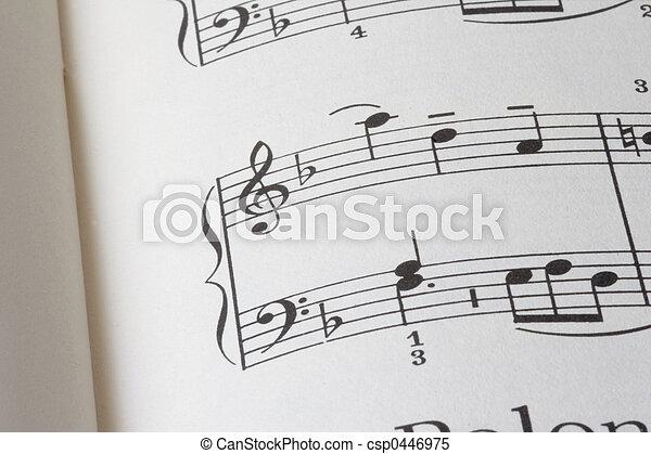 sheet of music P02 - csp0446975