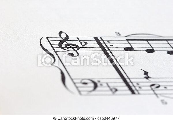 sheet of music P03 - csp0446977
