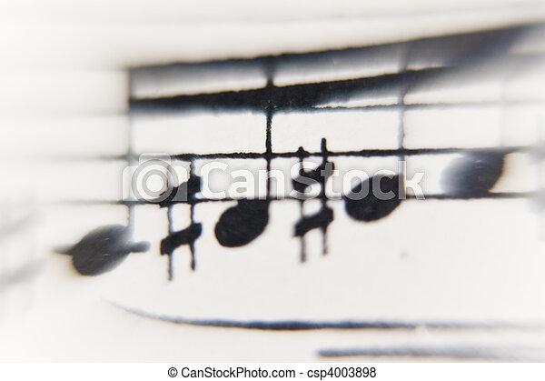 sheet of music - csp4003898