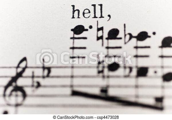 sheet of music - csp4473028