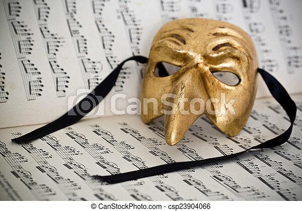 Sheet of music - csp23904066