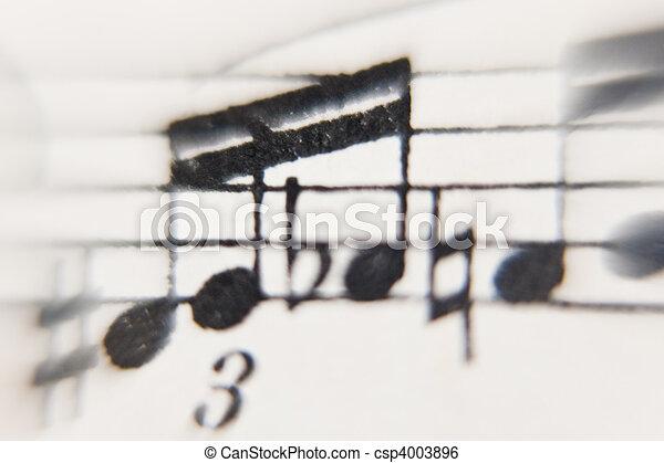 sheet of music - csp4003896