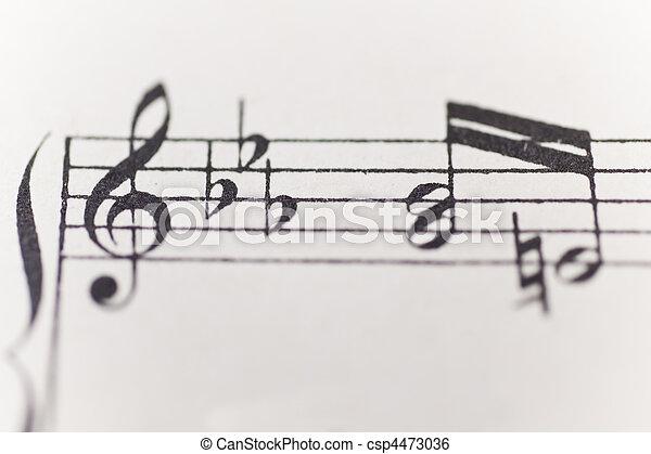 sheet of music - csp4473036