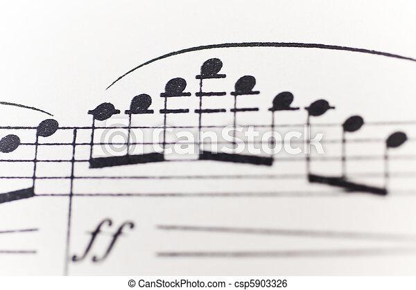 Sheet of music - csp5903326