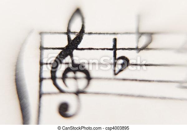 sheet of music - csp4003895