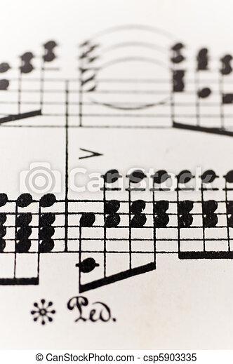 Sheet of music - csp5903335