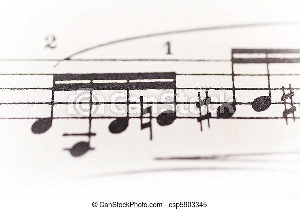 Sheet of music - csp5903345