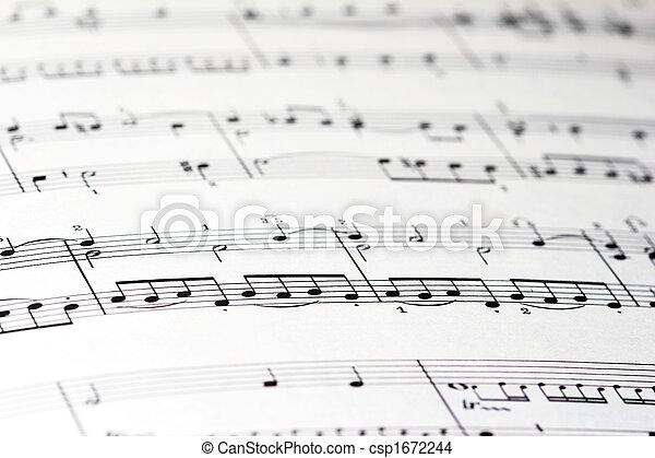 Sheet of music - csp1672244