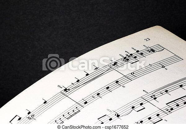 Sheet of music - csp1677652