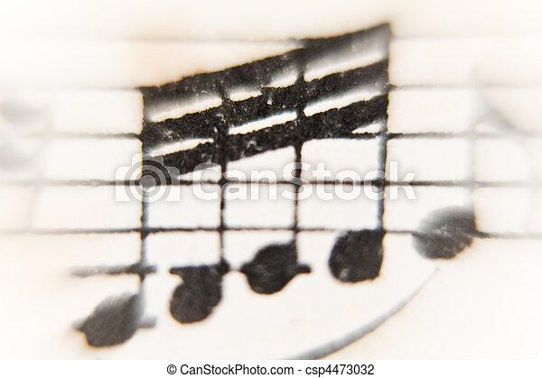 sheet of music - csp4473032