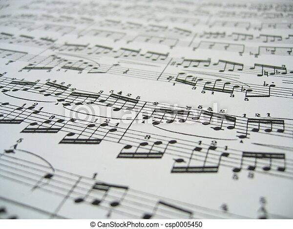 Sheet Of Music - csp0005450