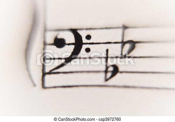 sheet of music - csp3972760