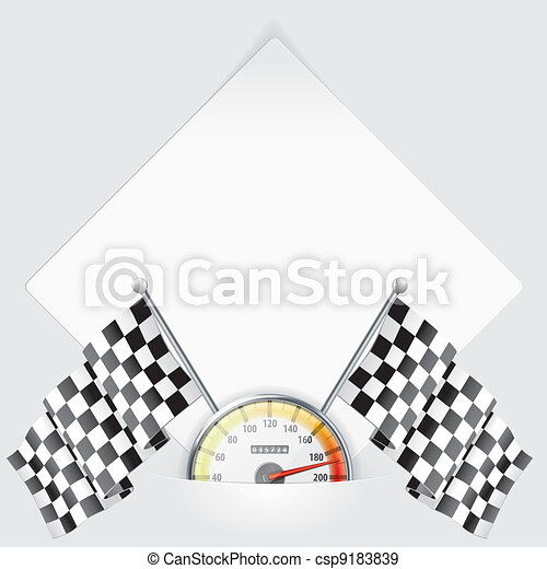 Sheet of Paper with Speedometer and - csp9183839
