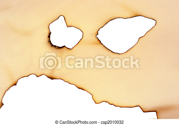 Sheet of paper with the scorched edges - csp2010032
