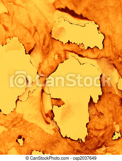 Sheet of paper with the scorched edges - csp2037649