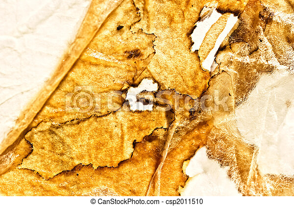 Sheet of paper with the scorched edges - csp2011510
