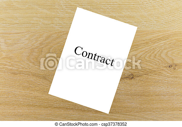 Sheet of paper with the word - csp37378352