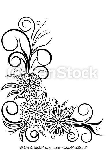 Sheet with floral corner design