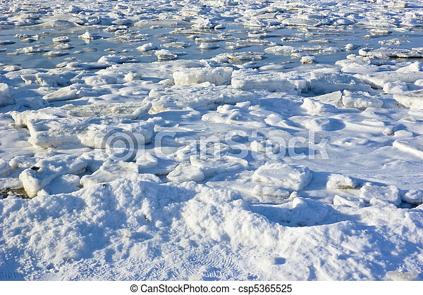 Sheets of ice - csp5365525