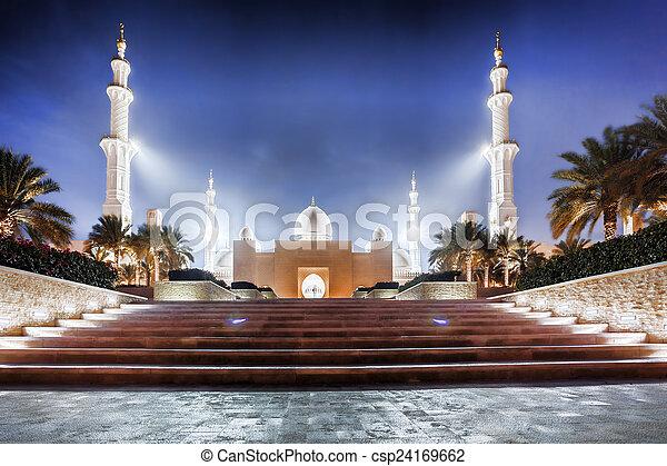 Sheikh Zayed mosque in Abu Dhabi, United Arab Emirates, Middle East - csp24169662
