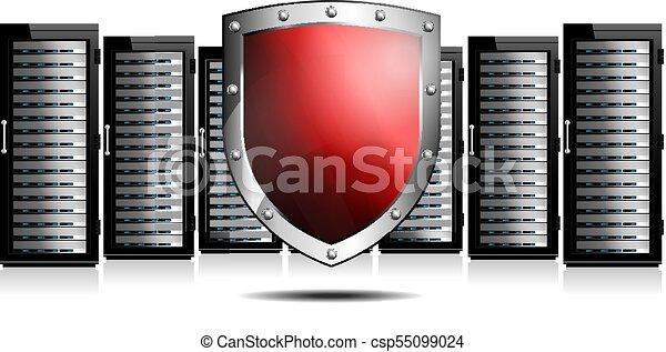 sheild, rouges, serveurs - csp55099024