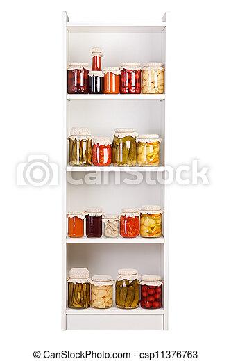 Shelf with various preserves - csp11376763