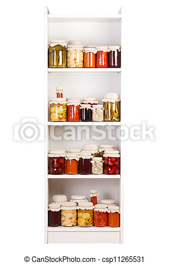 Shelf with various preserves - csp11265531
