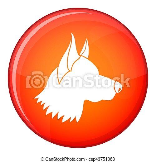 Shepherd dog icon, flat style - csp43751083